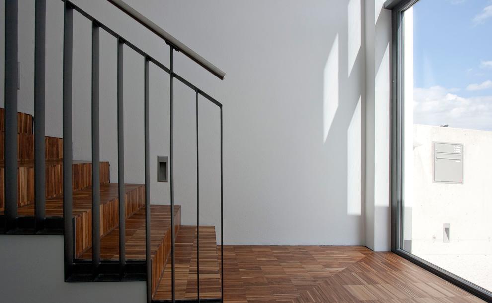 formal reduziertes wohnhaus archi viva architekten. Black Bedroom Furniture Sets. Home Design Ideas