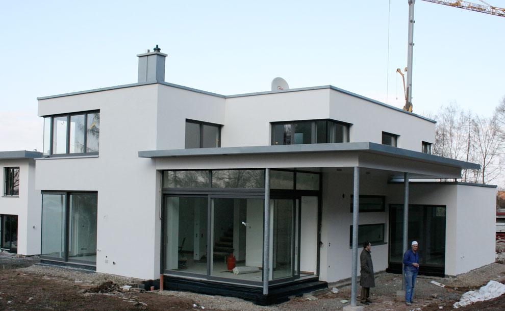 Neubau Einer Modernen Villa Mit Gästewohnung 2