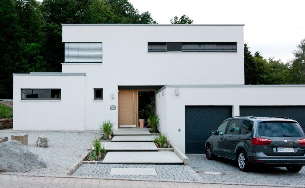 Neubau Einer Modernen Villa Mit Gästewohnung 3